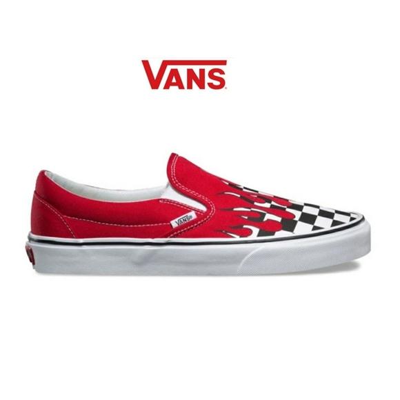 Vans Shoes | Unisex Checker Flame Slip